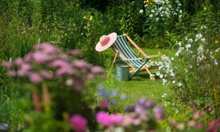 Offene Gartenpforte im Garten Wesser