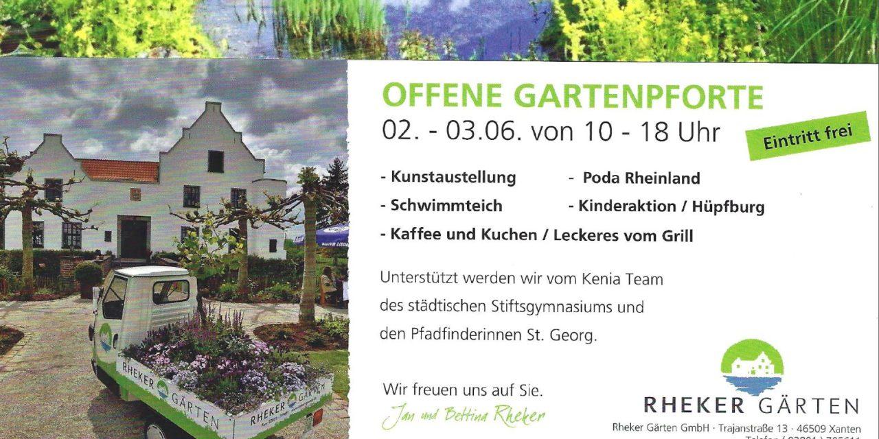 Offene Gartenpforte bei Rheker in Xanten