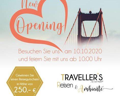 Neueröffnung am 10.10.2020: TRAVELLER'S