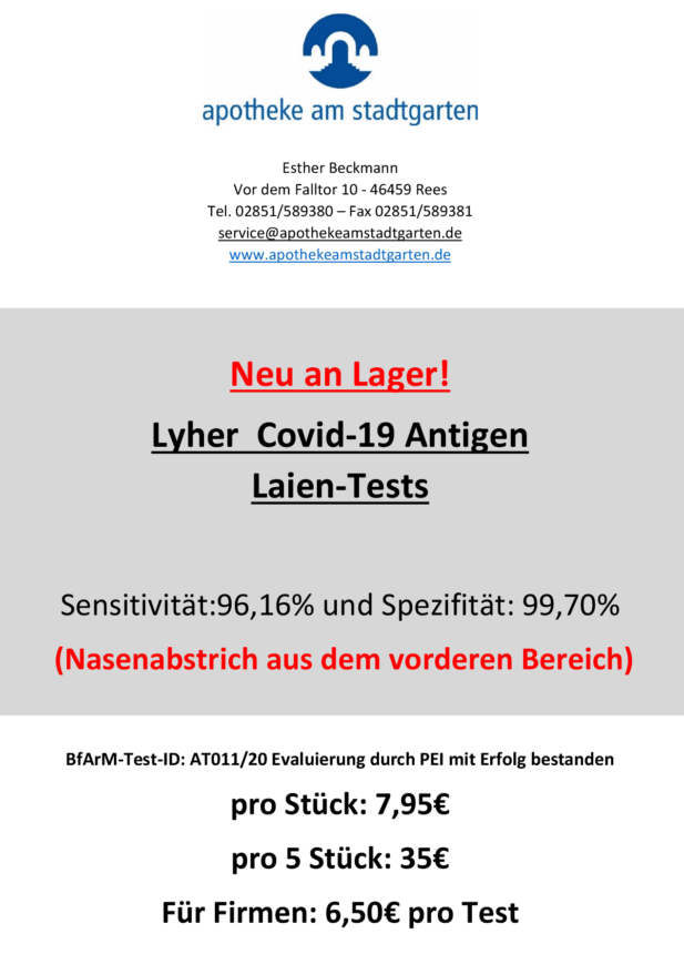 Angebot Covid-19 Laien-Test